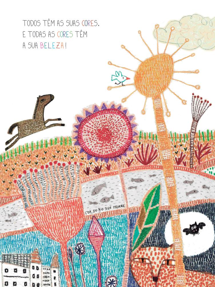 Animais e plantas. Página 14 do livro Cada um no seu lugar. Imagem ilustrativa texto clube de Leitura ODS.