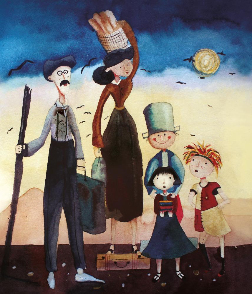 Família, O menino maluquinho e Emília. Imagem ilustrativa texto Ela nasceu Clarice.