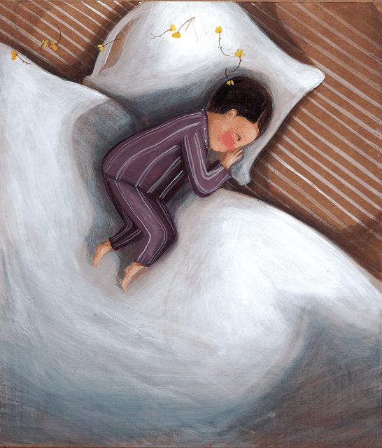 Menino deitado, com flores. O menino e a flor, página 13.