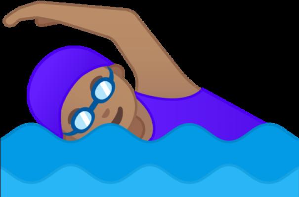 Emoji natação