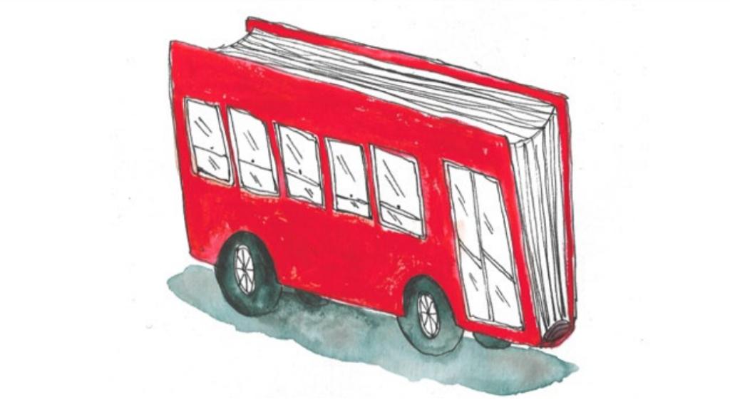 Ônibus livro.