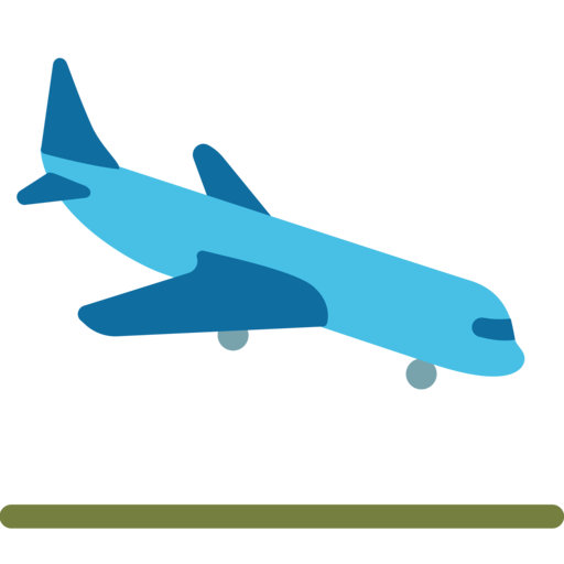 Avião aterrissando emoji