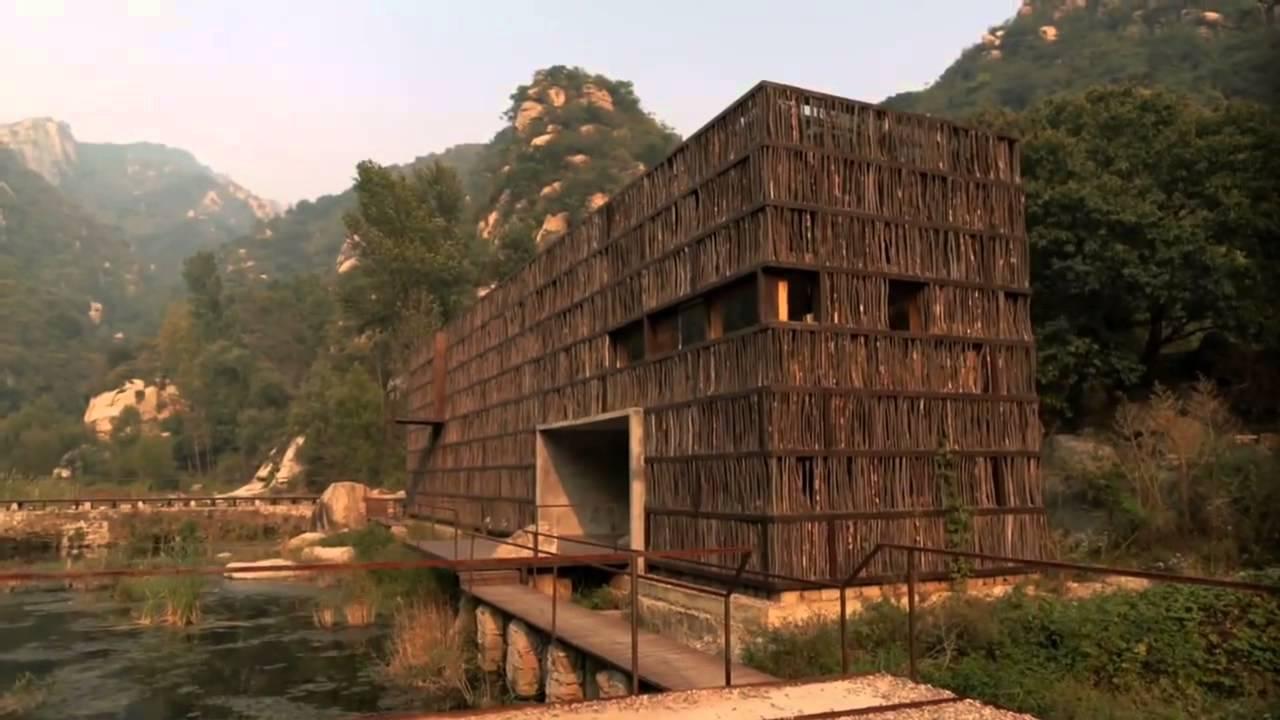 Exterior da Biblioteca Liyuan e paisagem.