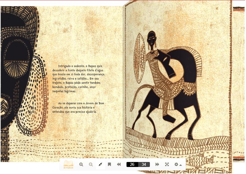Flipbook A Trapaça da serpente. Imagem ilustrativa texto Portal do Educador.