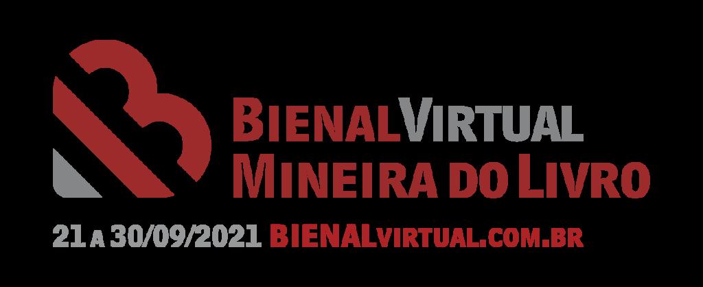 Logo Bienal Virtual Mineira do Livro.