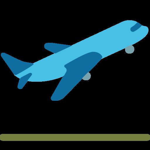 Avião decolando emoji