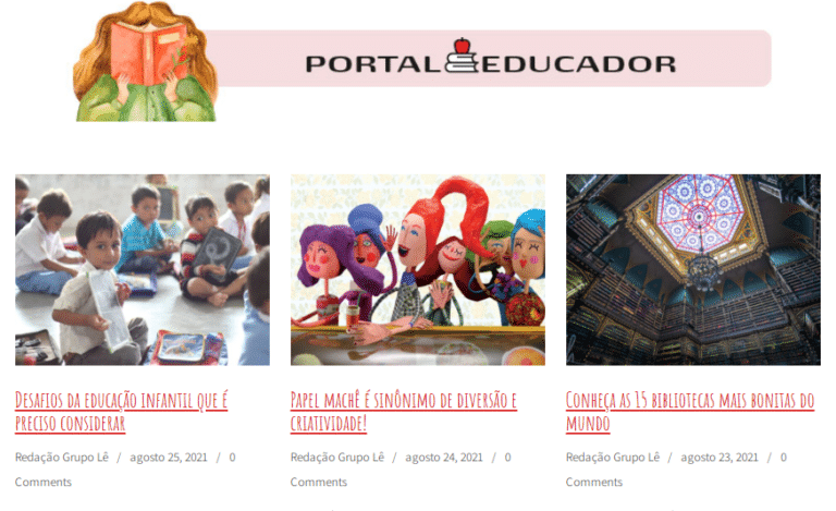 Portal do Educador oferece várias vantagens. Cadastre-se agora mesmo!